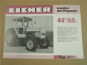 Prospekt Eicher 4060 Schlepper mit 60 PS von 1979