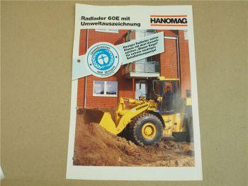 Prospekt Hanomag Radlader E Serie 60E