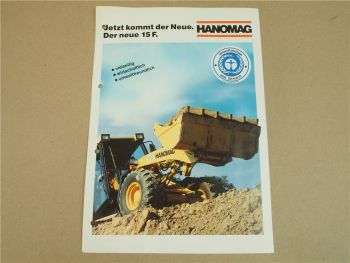 Prospekt Hanomag 15F Radlader mit 55 PS