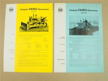 2x Prospekt FAMO Planierraupe Typ Boxer und G36