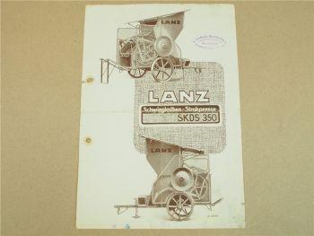 Prospekt Lanz SKDS350 Schwingkolbenpresse Strohpresse