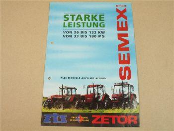 Prospekt Zetor 3340 6340 9540 10245 16245 18345 + Allrad von 11/1993