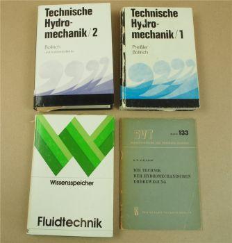 4x Handbuch Technische Hydromechanik Fluidtechnik Antriebs- Steuerungstechnik