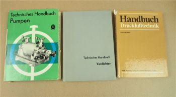 3x Handbuch zu Drucklufttechnik Verdichter Pumpen 60/80er Jahre