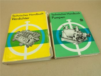2x Handbuch zu Verdichter Pumpen VEB Verlag Technik Berlin 1983/84