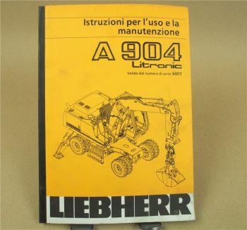 Liebherr A904 Litronic Istruzioni per l uso e la manutenzione 8/1998