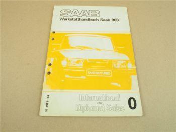 Saab 900 Turbo 1981 - 1984 Werkstatthandbuch Unterschied USA EU Ausführung