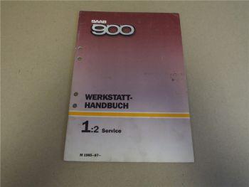 Saab 900 Service Inspektion Reparaturanleitung 1985 - 1987 Werkstatthandbuch