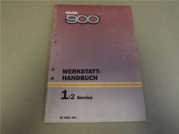 Saab 900 Service Inspektion Reparaturanleitung 1985 - 1988 Werkstatthandbuch