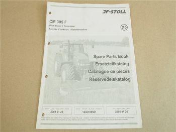 JF Stoll CM 305F Rotormäher Ersatzteilliste Parts List Reservedelskatalog 2001