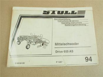 Stoll Drive 655 AS Mittelschwader Bedienungsanleitung Instructions Bedieningshan