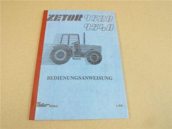 Zetor 9520 9540 Bedienungsanleitung Betriebsanleitung 1990