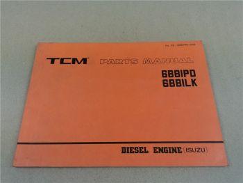 Isuzu 6BBIPD 6BBILK Engine Parts List TCM FD35Z6 bis FD70Z7 SD20Z6 SD23Z6 SD25Z6