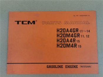 Nissan H20A4GR H20M4R Engine Parts List TCM FG20 FG23 FG25 -FG30 N2S N3 N8 N7S
