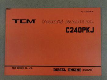 Nissan C240PKJ Engine Parts List TCM FD10 15 18 20 23 25 28 30 Z... 1993