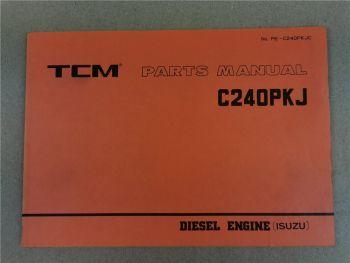 Nissan C240PKJ Engine Parts List TCM FD10 15 18 20 23 25 28 30 Z2S Z3 Z6 Z8