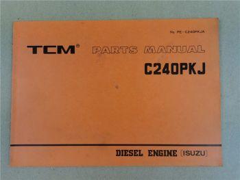 Nissan C240PKJ Engine Parts List TCM FD 15 18 20 23 25 28 30 Z2S Z6 Z7S 1987