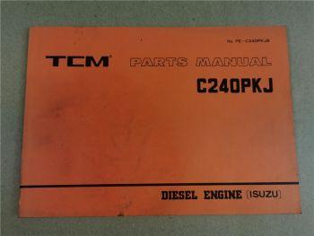 Nissan C240PKJ Engine Parts List TCM FD FHD SD 10 12 15 18 20 23 25 28 30