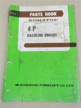 Komatsu 4P Engine FG10 14 15 18 /L Ersatzteilkatalog Parts book 1979