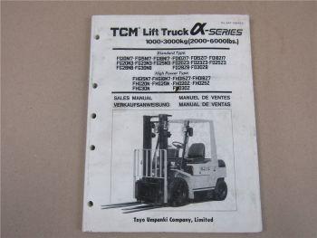 TCM FG FD FHG FHD 10 15 18 20 23 25 28 30 N Z Stapler Verkaufshandbuch 2/1991