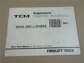 TCM FD FG 20 25 N3 Z3 Supplement Parts LIst Ergänzung Ersatzteilliste 7/1993