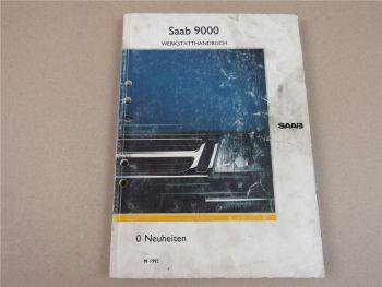 Saab 9000 YS3C Neuheiten Beschreibung Schaltplan Werkstatthandbuch 1992