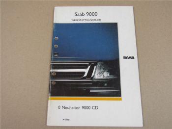 Saab 9000 CD Neuheiten Beschreibung Werkstatthandbuch 1988