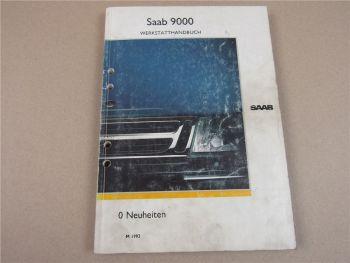 Saab 9000 YS3C Neuheiten Beschreibung und Schaltplan Werkstatthandbuch 1992