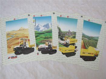 4 Prospekte Ammann Yanmar C50R C20R C30R C10R C10W C6R Dumper von 1992