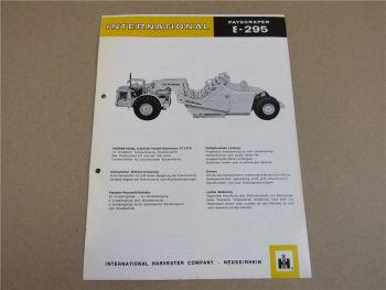 Prospekt IHC International E-295 Payscraper 6-Zyl. DT817B Motor