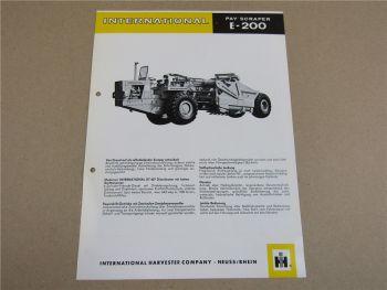 Prospekt IHC International E-200 Pay Scraper mit 6-Zyl. DT-407 Motor