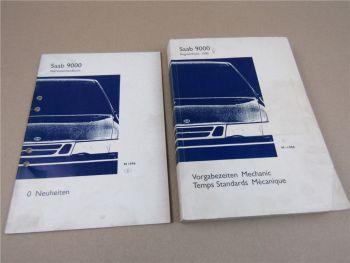 Saab 9000 YS3C Werkstatthandbuch Neuheiten Vorgabezeiten Arbeitszeiten Mechanik