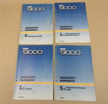 Saab 9000 Reparaturhandbuch Service Neuheiten ABS Werkstatthandbuch 1987