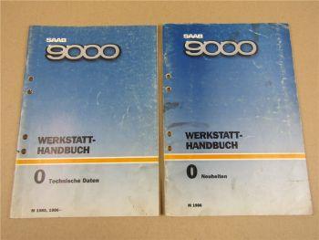 Saab 9000 YS3C Technische Daten Neuheiten Modelljahr 1985/86 Werkstatthandbuch