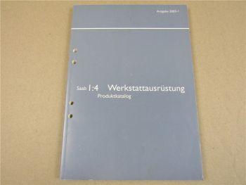 Saab Werkstatthandbuch 2003 Werkstattausrüstung Produktkatalog