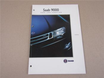 Saab 9000 Form und Funktion Modellprogramm 1992 Vorstellung Produktinformation