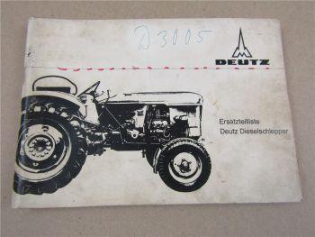 originale Deutz D2505 D3005 Diesel Traktor Ersatzteilliste Ersatzteilkatalog