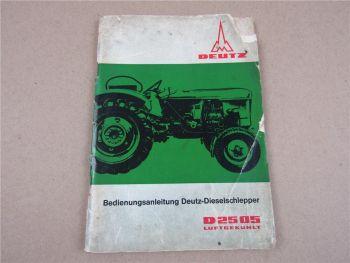 Betriebsanleitung Deutz D2505 Dieselschlepper Bedienung 10/1965 F2L 812S Motor