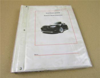 Saab 9-3 Sport Limousine MJ 2003 Schulungshandbuch Werkstatthandbuch Lehrgang