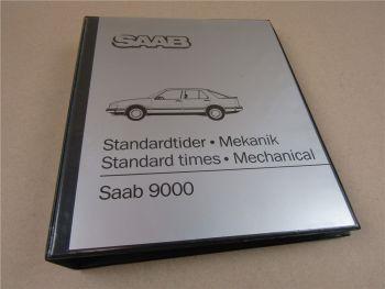 Reparaturanleitung Saab 9000 Werkstatthandbuch Vorgabezeiten 1985 Standard times