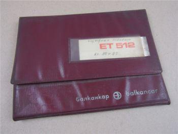 Balkancar ET512 Elektroschlepper Ersatzteilliste Parts List Pieces rechange 1977
