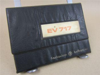 Balkancar EV717.33.64 - EV717.45.91 Gabelstapler Betriebsanleitung 1980 Bedienun