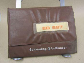Balkancar EB687.22.2 - EB687.45.11 Gabelstapler Bedienungsanleitung Wartung 1984