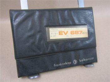 Balkancar EV687 Gabelstapler Betriebsanleitung Bedienungsanleitung 1980