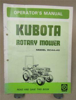 Kubota RC44-42 Rotary Mower Operators Manual Bedienungsanleitung in englisch