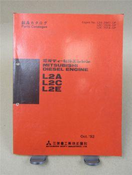 Mitsubishi L2A L2C L2E Diesel Engine Parts List 1992 Ersatzteilliste in engl