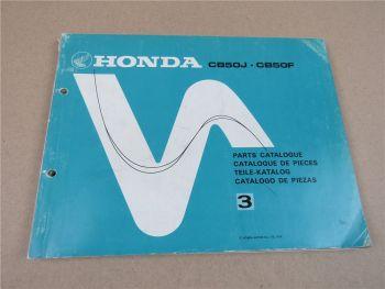Honda CB50J CB50F Ersatzteilliste Ersatzteilkatalog Spare Parts Catalogue 1978