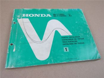 Honda GL1100 c Ic Dc Ac Ersatzteilliste Parts List Catalogo de piezas 1981