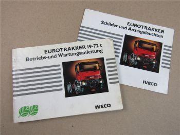 Iveco Eurotrakker Bedienungsanleitung Betrieb Wartung + Schilder Anzeigeleuchten