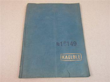 Kaelble 3W110 Motorwalze Ersatzteilliste Bedienung 1940/50er Jahre Motor GN110e